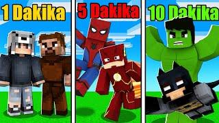 HER DAKİKA SÜPER KAHRAMAN OLUYORUZ 😱 - Minecraft