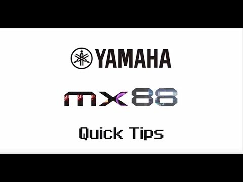 Yamaha MX88 Quick Tips | Performance Basics Part 2.