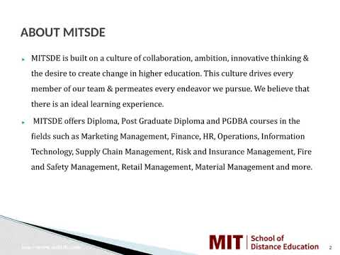 Distance Management Courses   Correspondence MBA   Distance MBA in Dhule