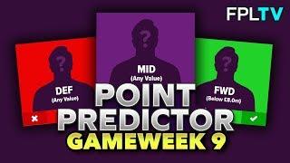Point Predictor   FPL GAMEWEEK 9   Fantasy Premier League   2019/20