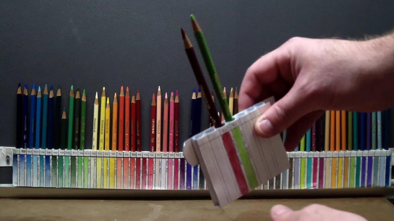 Diy Custom Pencil Holder For Prismacolor Youtube