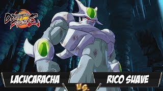 LaCucaracha(Cell/Goku Black/Kid Buu) Fights Rico Suave(Cooler/Broly/SSJ Goku)[DBFZ PS4]
