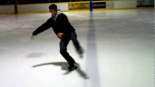 Figure Skating moves on Hockey Skates - trick/extreme skating