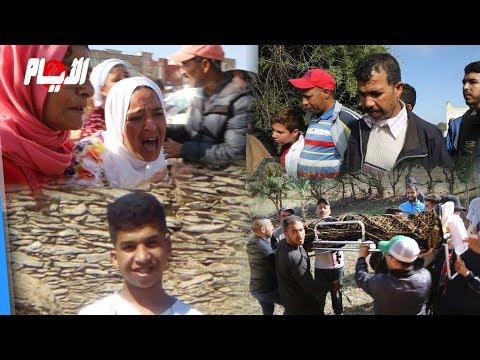 هكذا ودعت الوالدة والعائلة ابنها الذي سقط من فوق عمارة بالمحمدية