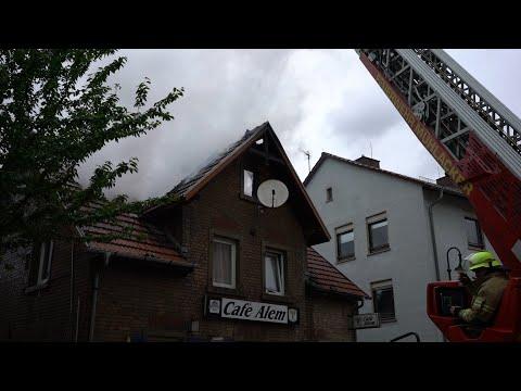 Dachstuhlbrand in Mühlacker