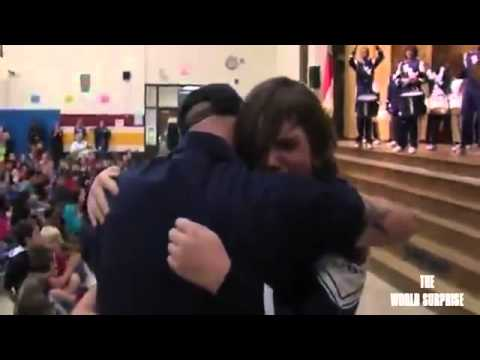 Military Dad From High Point Surprises Daughter, Son at School