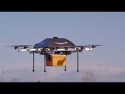 Дрони като услуга за доставка на Amazon Трейлър