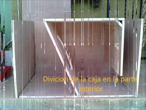 confección de cajón para subwoofer original (casero )