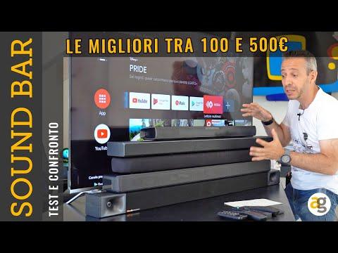 LE MIGLIORI SOUND BAR tra 100 e 550 euro