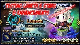 Brave Exvius Global - Testing Luneth 6 stars & Enhancements
