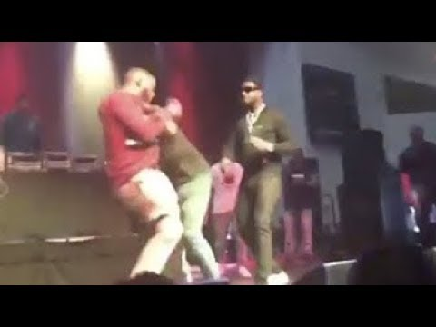Alleged Goon Attempts To TACKLE Gucci Mane On Stage During Live Performance?!?!