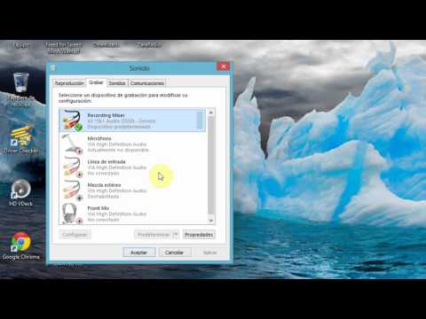 configurar audio para emisiones con zara radio y edcast  en windows 8-7