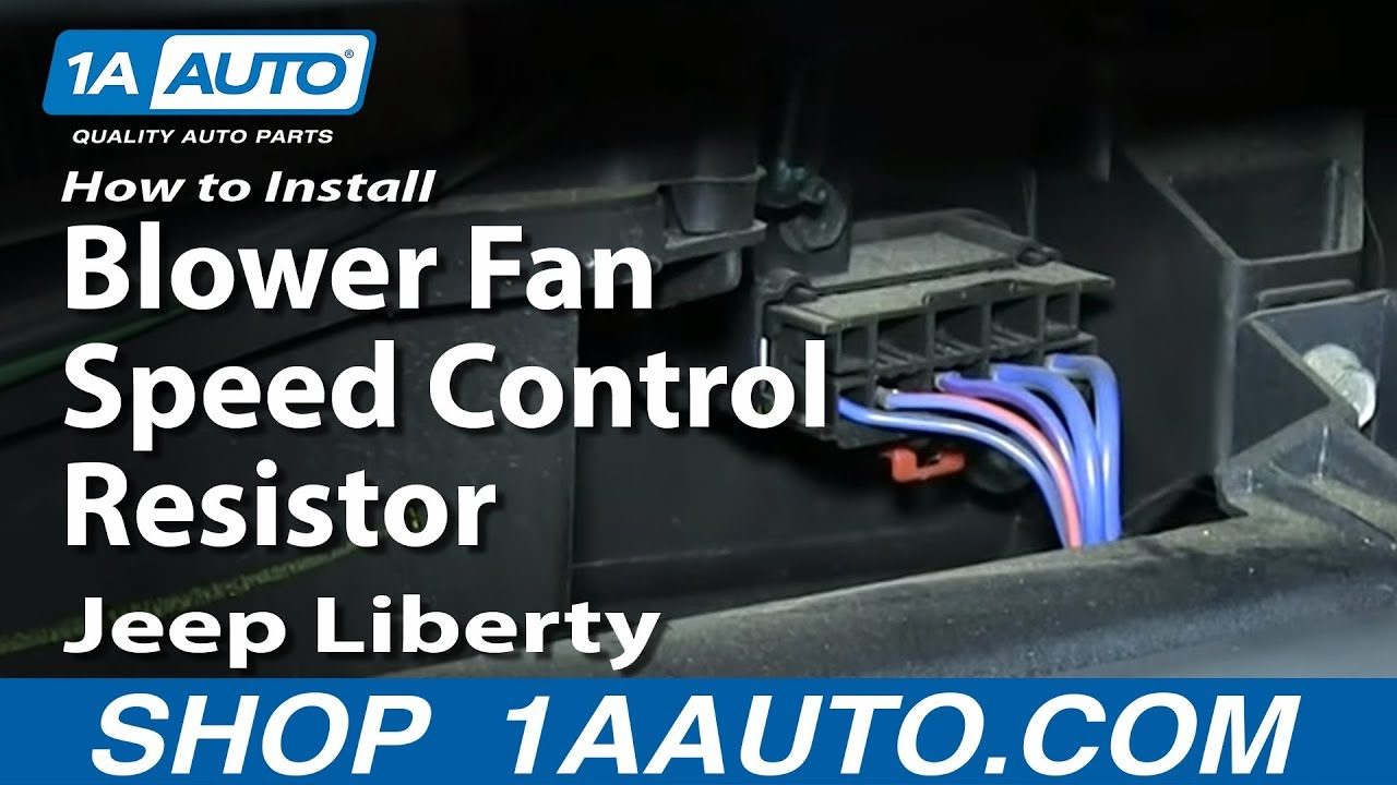 How To Install Replace Blower Fan Speed Control Resistor