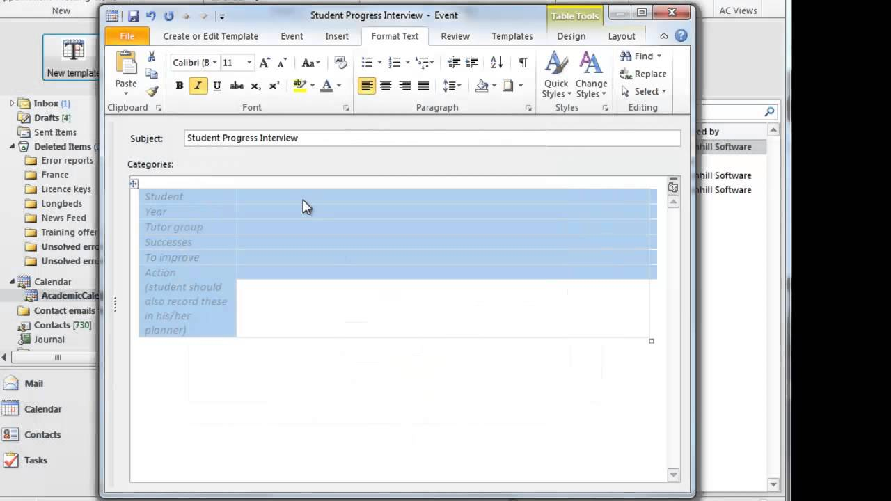 outlook calendar printing assistant templates -