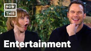'Jurassic World' Stars Chris Pratt and Bryce Dallas Howard Play Dinosaur Trivia   NowThis