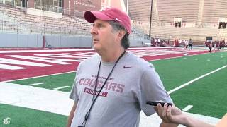 Mike Leach after Fall Camp Day 1