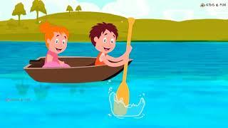 Row Row Row a Boat Nursery Rhyme | Kids songs | Nursery Rhyme Collection| KidsnFunFlix