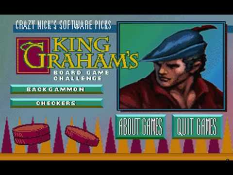 Crazy Nick's Software Picks: King Graham's Board Game Challenge (Sierra On-Line) (MS-DOS) [1992]