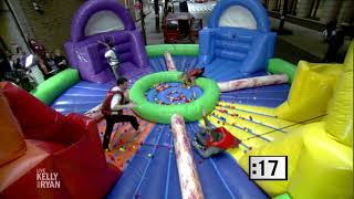 Kelly & Ryan Play Inflatable Hungry Hungry Hippos with Jimmy Kimmel and Guillermo
