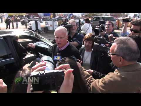 ANN Live WAE14' Coverage -  CALIFORNIA GOVERNOR VISITS THE 2014 WAE