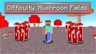I Beat Minecraft in a Mushroom Fields Only World (1% chance of this happening)