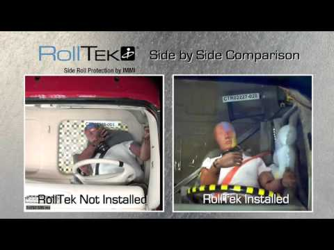 RollTek Side by Side Crash Test Comparison