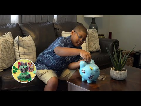 screenshot of youtube video titled Money | Growing Up with Smart Cat