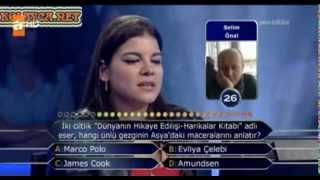 Kim Milyoner Olmak Ister 259. bölüm Melis Erdemli 14.09.2013