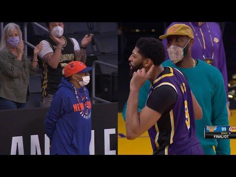 Anthony Davis and LeBron James trolling Spike Lee