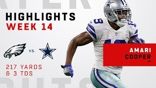 Amari Cooper's CRAZY Day w/ 3 TDs & 217 Yards vs. Philly
