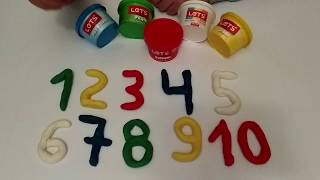 Learn numbers with Plasticine Play Do! Children's channel! Plasticine for children