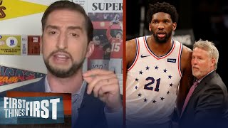 If 76ers go out of playoffs early, fire Brett but keep Embiid — Nick Wright | FIRST THINGS FIRST