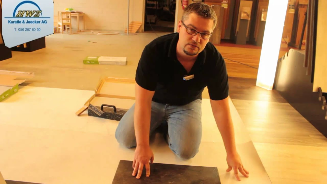 hwz vinylboden verlegen youtube. Black Bedroom Furniture Sets. Home Design Ideas