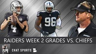 Raiders Grades: Derek Carr, Josh Jacobs, Tyrell Williams, Defense vs. Chiefs In NFL Week 2