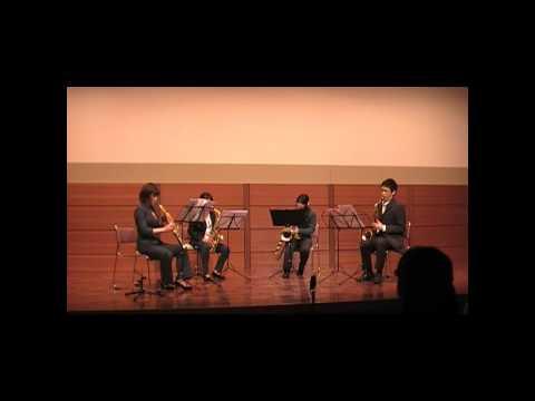 Tsukuba Saxophone Quartet - J.S.Bach/Yasuhide Ito - Chaconne (saxophone quartet ver.)