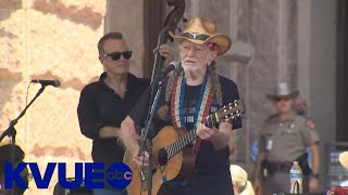 Willie Nelson performs at rally for voting rights at Texas Capitol   KVUE