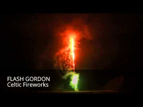 Celtic Fireworks Flash Gordon - 49 shot firework