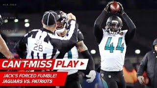 Pats Crazy Trick Play Ends w/ Myles Jack Forced Fumble!