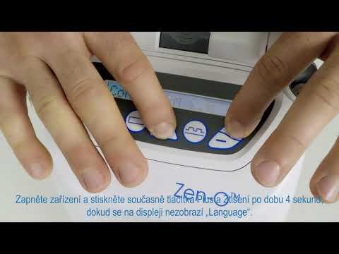 GCE Zen-O™ Přenosný kyslíkový koncentrátor - změna jazyka