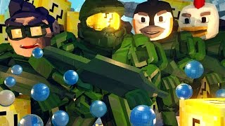 Minecraft | Lucky Block Boss Challenge - Halo Covenant Monsters! (Atlantis Roleplay)