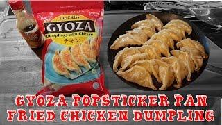 Easy Gyoza Pot-Sticker Pan Fried Frozen Dumpling  recipe~