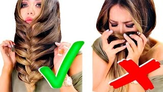 TOP 5  ★ ALL TIME BEST HACKS of 2016 for GIRLS ★ AMAZING HAIRSTYLES, Braids, Life & Hair TIPS | 10