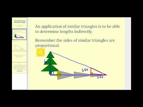 Indirect Measurement Using Similar Triangles - Video from CK-12 ...