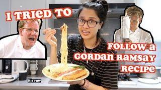i tried to follow a gordan ramsay recipe | clickfortaz