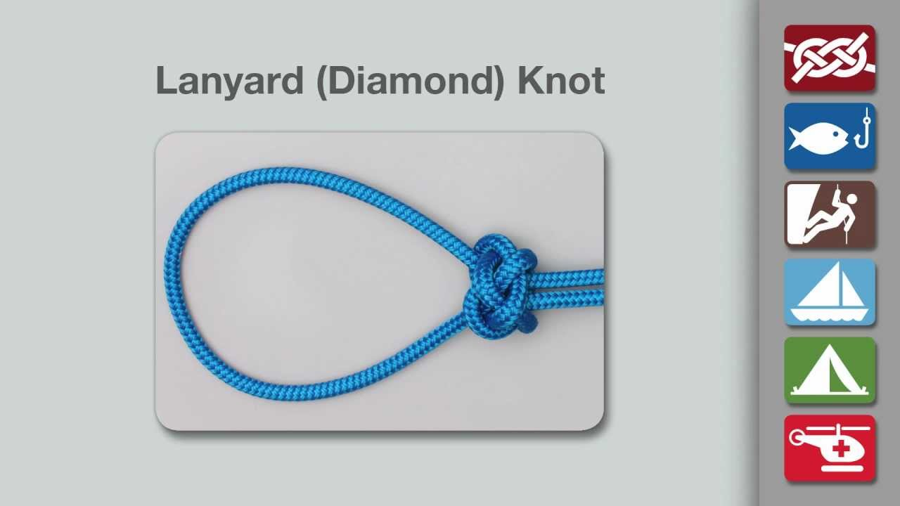 lanyard knot how to tie a lanyard diamond knot youtube