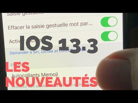 iOS 13.3 : Les nouveautés d'iOS 13 beta 1 (français) sur iPhone et iPad.