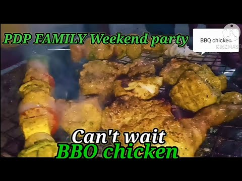 ##Barbeque## home made ##BBQchicken## #paneerkebaba# #snaksparty# weekend party with family.