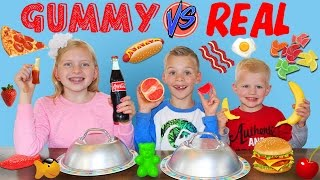 Gummy Food vs. Real Food Challenge - YouTube