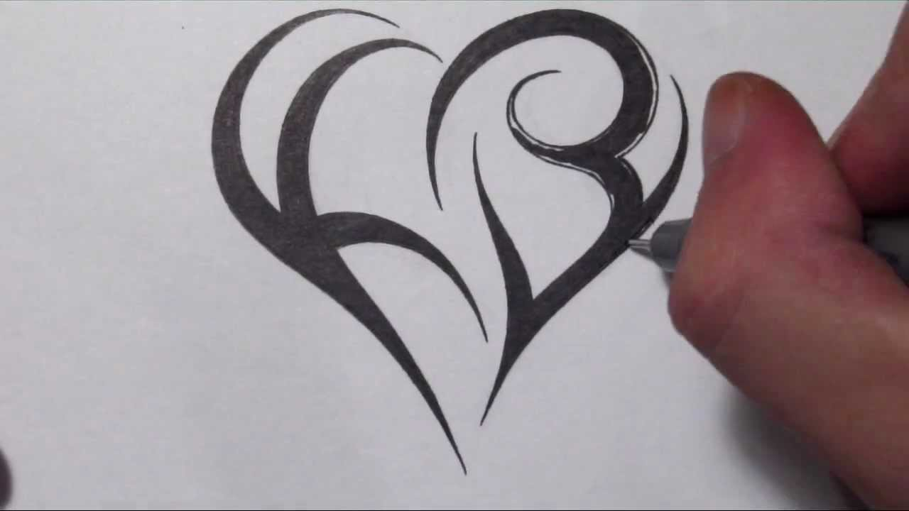 How To Create a Heart Using Letters - Tribal Initials ...