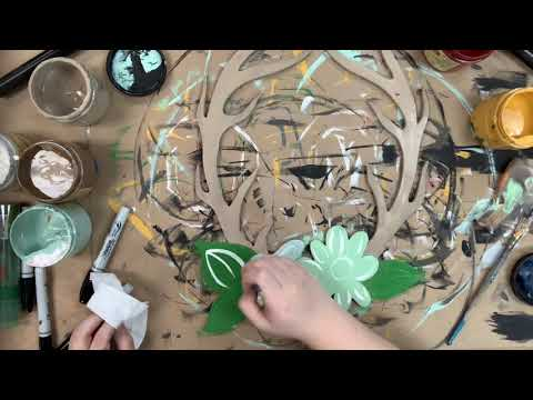 Floral Antler Craft Shape Step by Step Video Tutorial